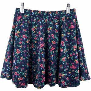 Energie Skirt Floral Printed Stretch Waist A-line